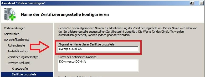 Windows Server 2008 R2: Installation Zertifikatdienste (ADCS) und ...