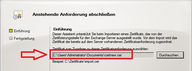 Exchange 2010: Zertifikat Installation und Dienste (3) » blog ...